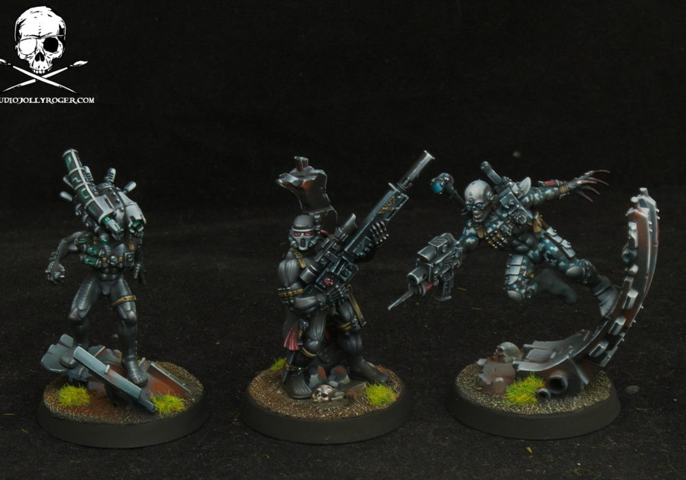Alex's Space Wolves Contemptor Dreadnought and Assassins