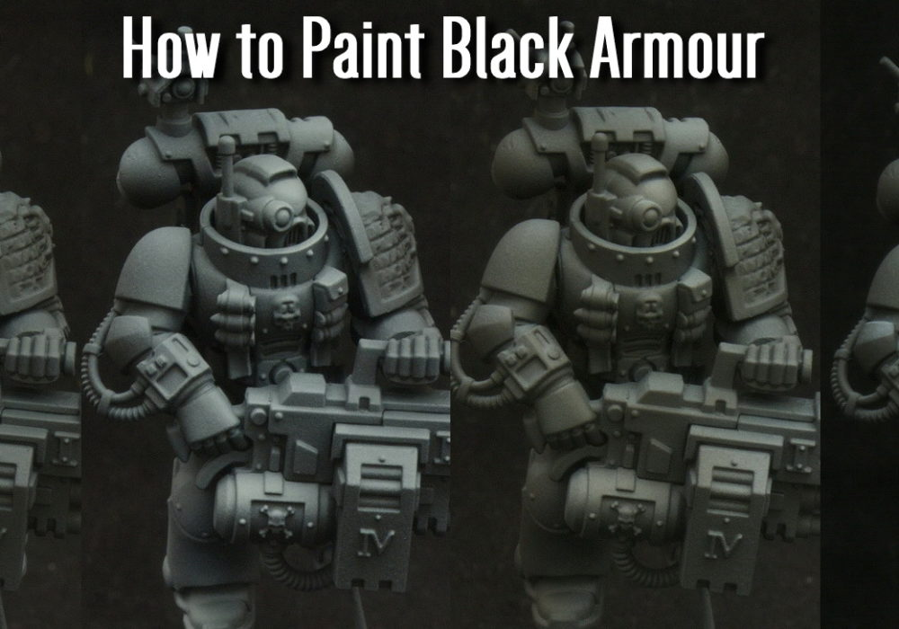 How to paint Black Armour (Video)